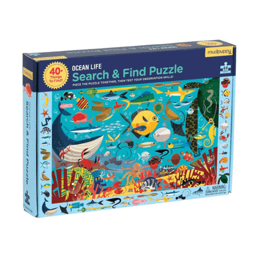 Ocean Life Search and Find Puzzle 64 pc