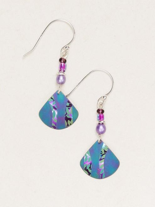 Turquoise / Purple Painterly Earrings