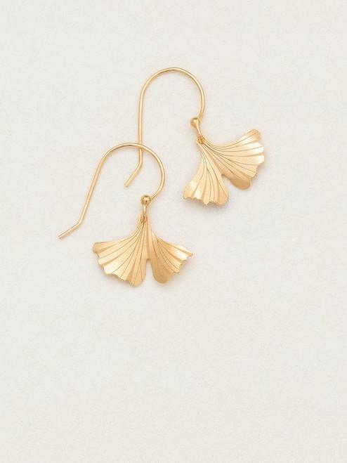 Gold Petite Ginkgo Earrings