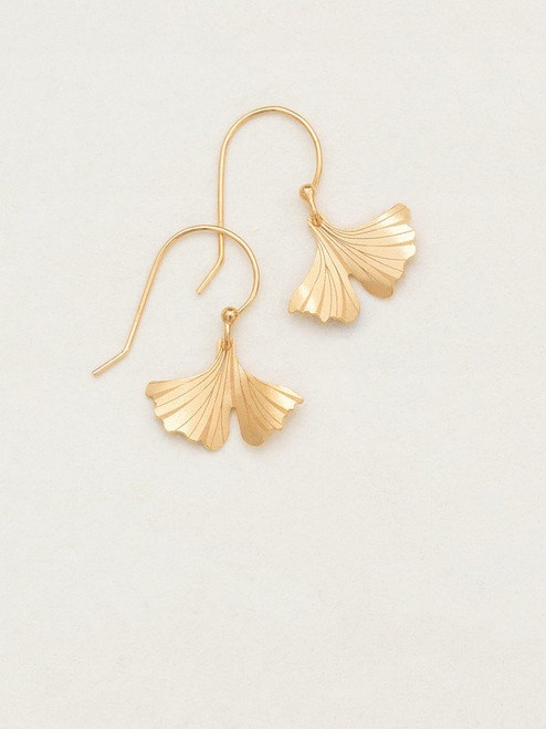 Gold Petite Ginkgo Earrings