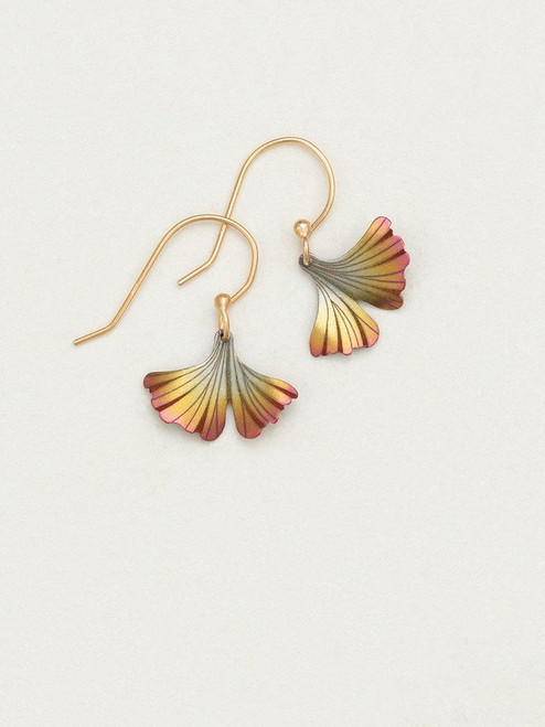 Peach Petite Ginkgo Earrings