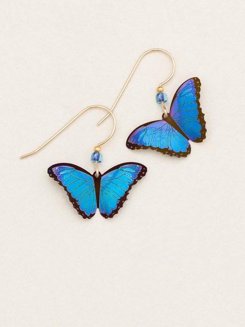 Blue Radiance Bindi Butterfly Earring