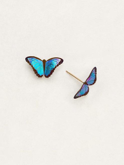 Blue Radiance Petite Bella Butterfly Post Earrings