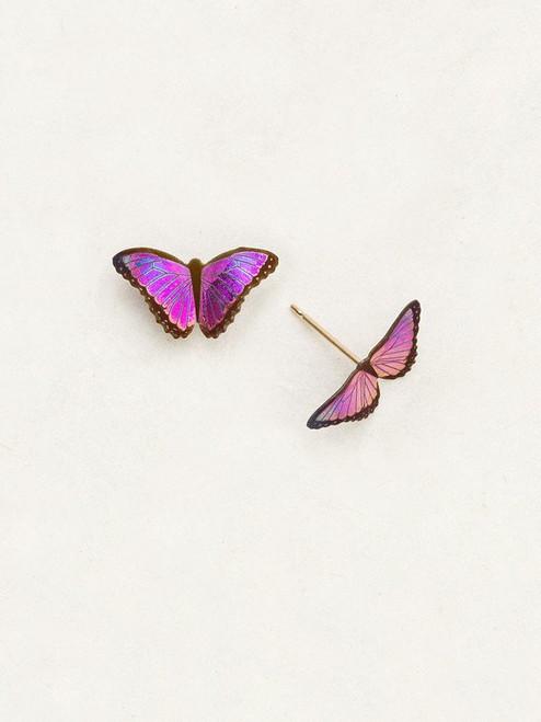 Ultra Violet Petite Bella Butterfly Post Earrings