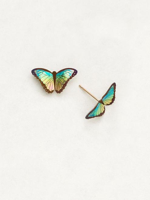 Island Green Petite Bella Butterfly Post Earrings