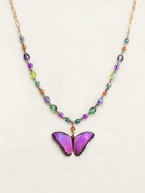 Ultra Violet Bella Butterfly Necklace