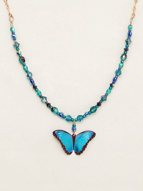 Blue Radiance Bella Butterfly Beaded Necklace