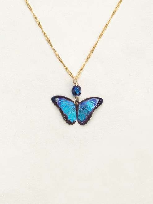 Blue Radiance Bella Butterfly Pendant Necklace