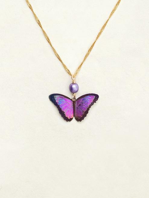 Ultra Violet Bella Butterfly Pendant Necklace
