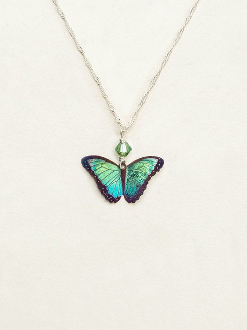 Green Flash Bella Butterfly Pendant Necklace