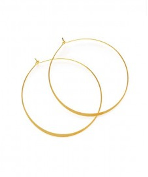 "1.5"" Round Hoop Earring Gold"