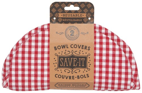 Bowl Cover Set of 2 Gingham
