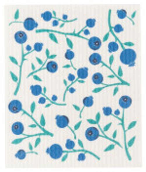 Blueberries Swedish Dish Cloth
