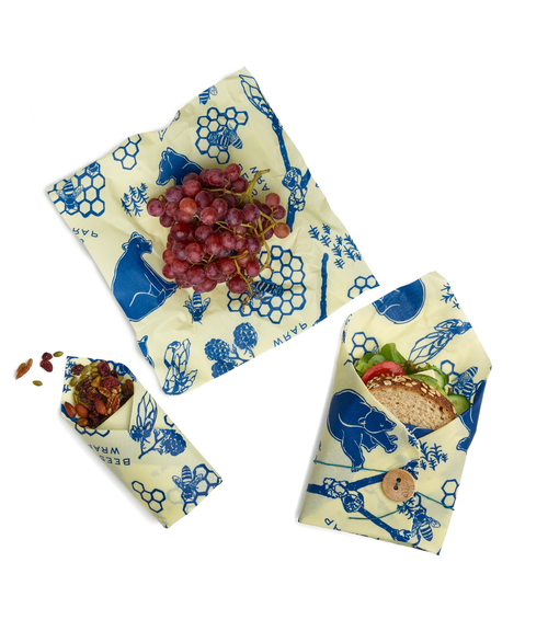 Bees & Bears Lunch Pack - 1 Sandwich Wrap, 2 Medium Wraps