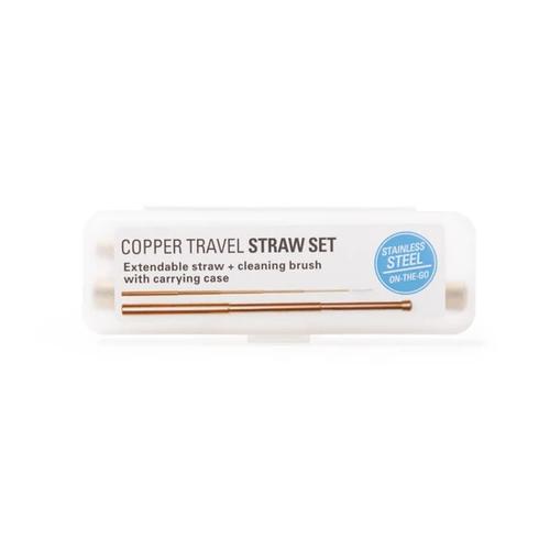 Copper Travel Straw Set