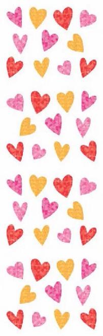 Sparkle Tiny Hearts Stickers