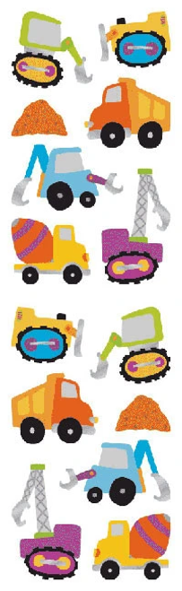 Construction Vehicles Stickers