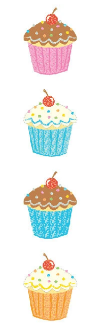 Delightful Cupcake Stickers