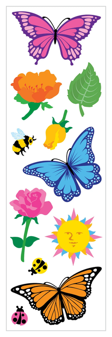 Butterflies & Flowers Stickers
