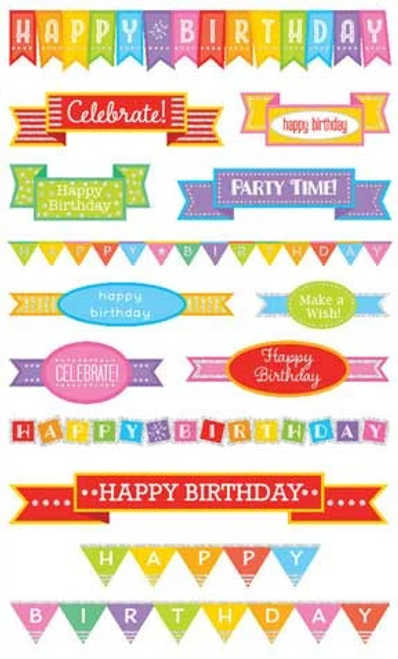 Birthday Banner Stickers