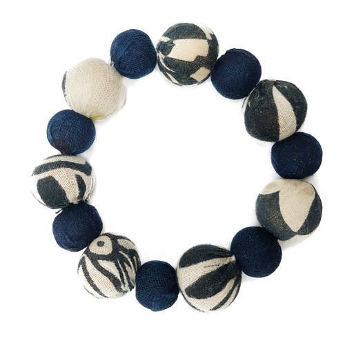 Kantha Indigo Bauble Bracelet