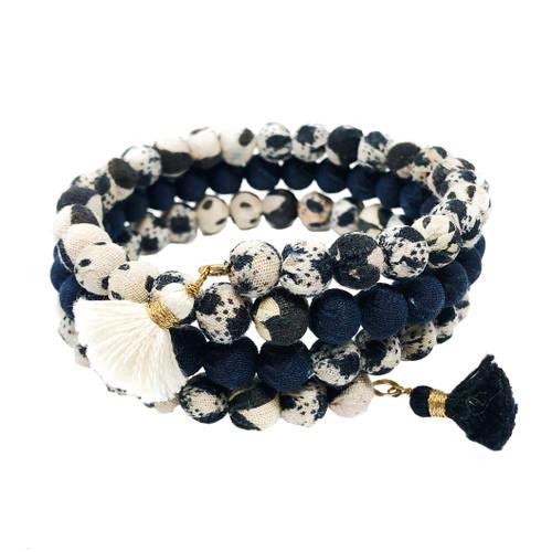 Kantha Indigo Wrap Bracelet