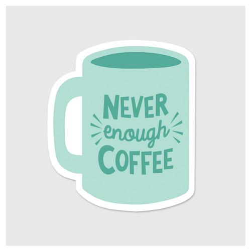 Never Enough Coffee Sticker