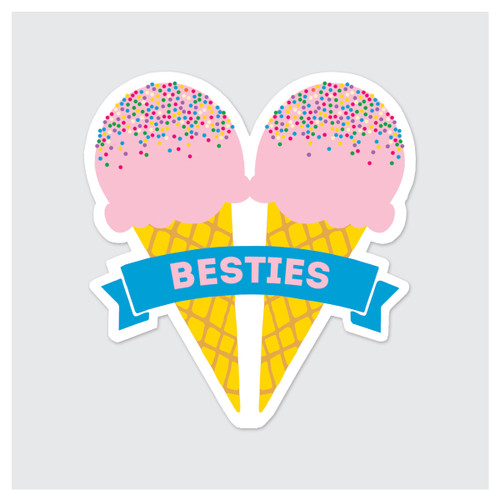 Besties Ice Cream Sticker