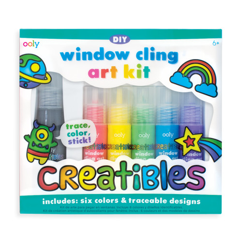 Creatibles DIY Window Cling Art Kit - 7 Piece Set