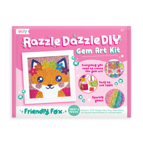 Razzle Dazzle D.IY. Gem Art Kit: Friendly Fox