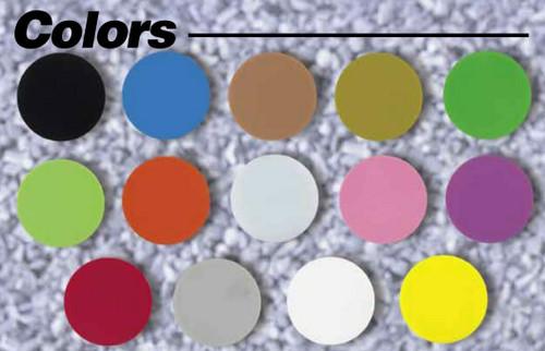 "Custom Printed Round Plastic Tokens 1 1/8"" Token Colors"