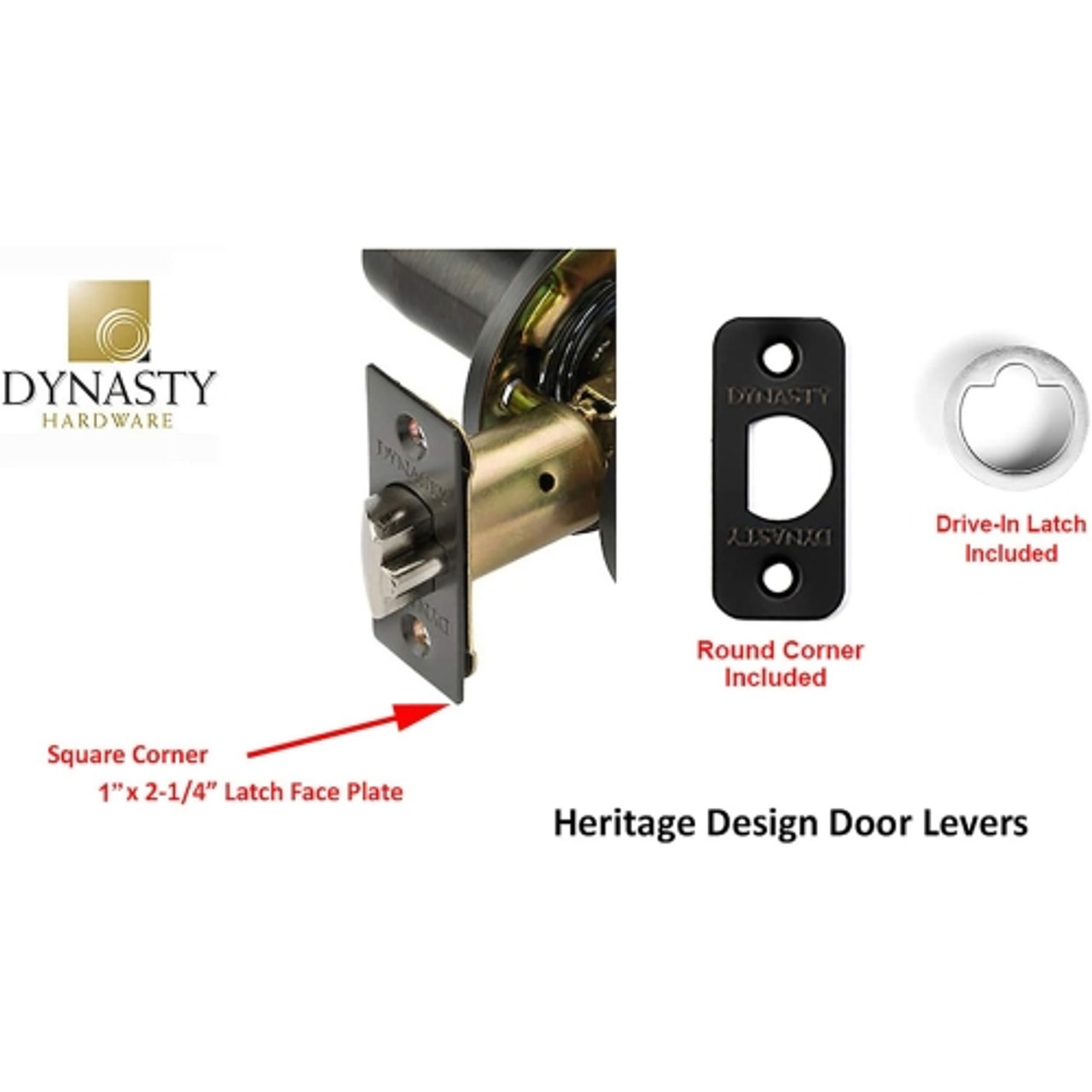 Contractor Pack 3 Pack Aged Oil Rubbed Bronze Dynasty Hardware VAI-30-12P Vail Lever Privacy Set