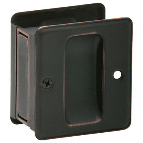 EZ-Set Passage Pocket Door Pull Aged Oil Rubbed Bronze