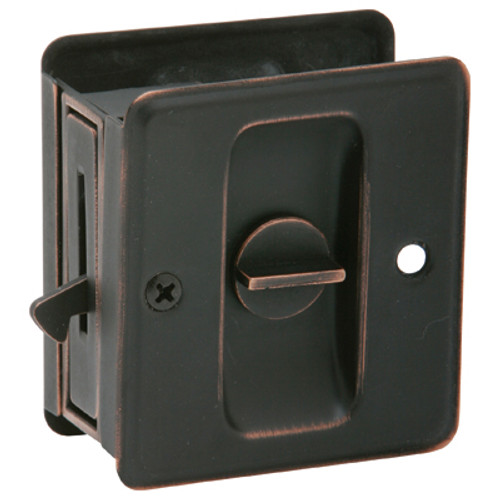 EZ-Set  Privacy  Pocket Door Pull Aged Oil Rubbed Bronze