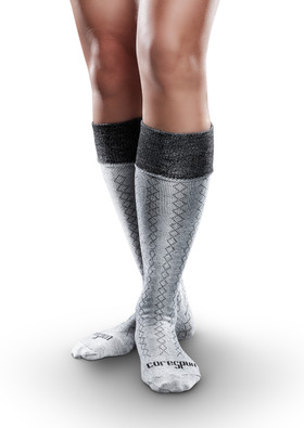 Core-Spun Patterned AFO Socks by SmartKnit for Adults