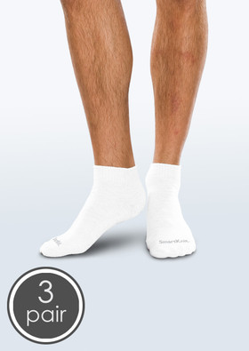 SmartKnit Seamless Diabetic Mini-Crew Socks - 3 Pack