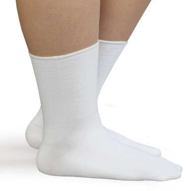 SmartKnit Seamless Diabetic Wide Crew Socks