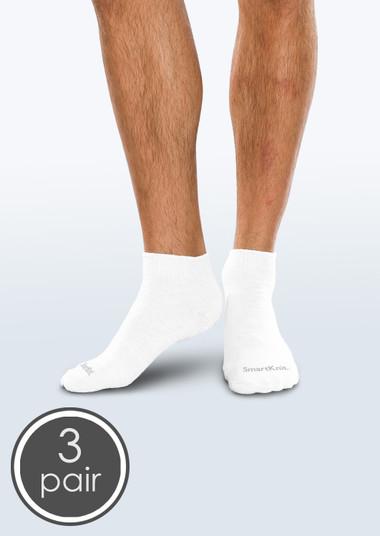 SmartKnit Seamless Diabetic Mini-Crew Socks - 3 Pack