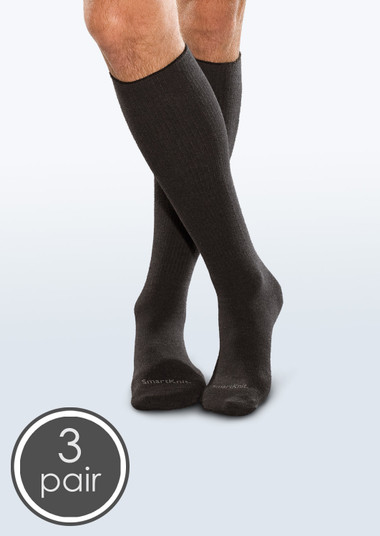 SmartKnit Seamless Diabetic Over-the-Calf Socks - 3 Packs