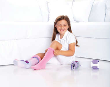 SmartKnit Seamless AFO Interface Socks for Kids