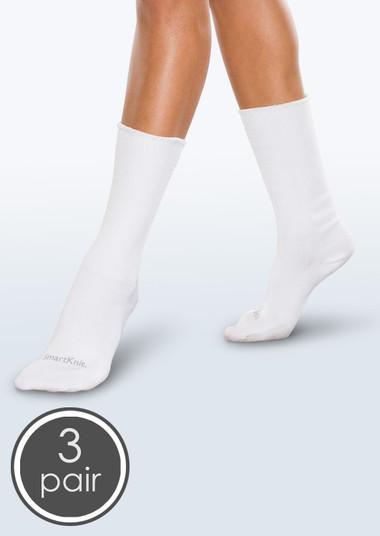 SmartKnit Seamless Diabetic Crew Socks - 3 Packs