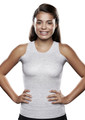 Lightweight Torso Interface V-Neck Tank with Double Flap - X-Static®