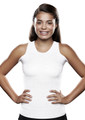 Lightweight Torso Interface V-Neck Tank with Double Flap