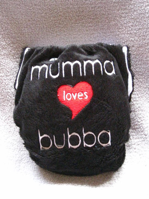Mumma Loves Bubba nappy by Miamoo