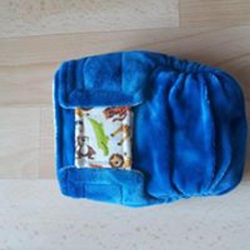 Small pocket 'Jungle' Nicnaps nappy with velcro