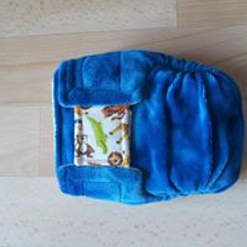 Small pocket 'Jungle' Nicnaps nappy with velcro