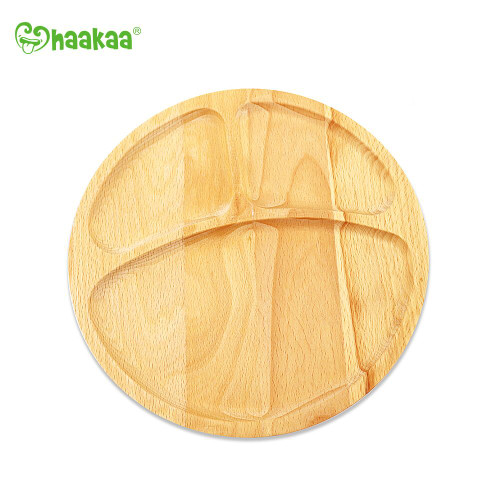 Haakaa Divided Wooden Plate - Circle