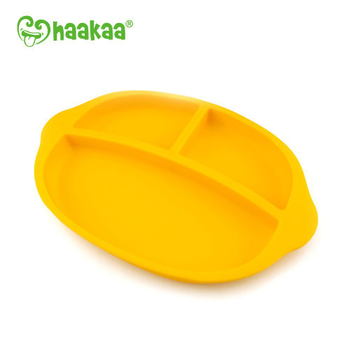 Haakaa Silicone Divided Plate Yellow