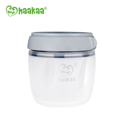 Haakaa Generation 3 Silicone Storage Container - 160mL grey