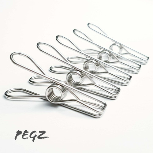 PEGZ Stainless Steel Pegs Grade 201 - 30 pack
